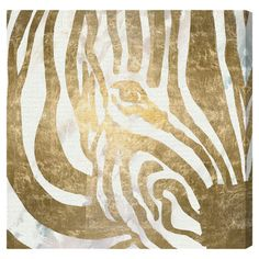 Add a pop of pattern to your living room or den with this eye-catching canvas print, showcasing a zebra motif in gold.  Product: