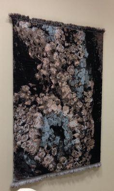 Seaweed - weaving By Margot Berkman -artist  1,6 m x 2,5 m on a frame