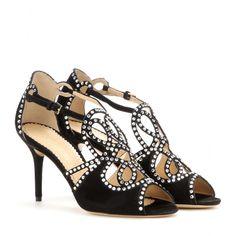 Charlotte Olympia - Shanglow embellished suede sandals - mytheresa.com   1573 d3c8c0493fb