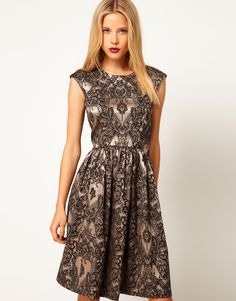 Baroque styled dress