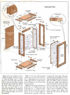 #1273 Collectors Display Cabinet Plans - Furniture Plans and Projects