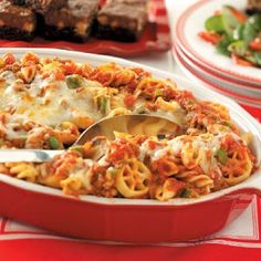 Four-Pasta Beef Bake Recipe   Taste of Home Recipes