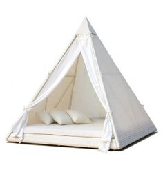 glamorous pillowed teepee/tent from Fute Design