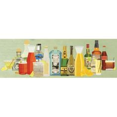 "Langley Street Classic Cocktails Pano' Wall Art on Wrapped Canvas Size: 16"" H x 48"" W x 0.75"" D"