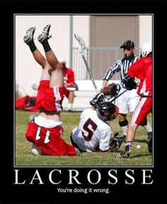 Funny lacrosse memes help get you through the day. Lacrosse Memes, Lacrosse Gear, Youre Doing It Wrong, Skin Rash, Sports Party, Sport Quotes, Girl Humor, Workout Videos, Funny Quotes