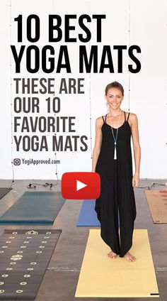 These are our top 10 favorite yoga mats on the market. Watch the video to see which yoga mat is best for your yoga practice.