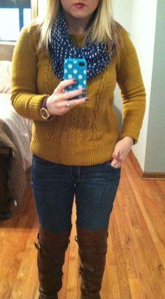M & M: Mustard sweater