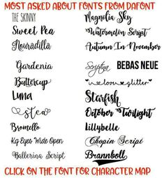 most asked about fonts from dafont