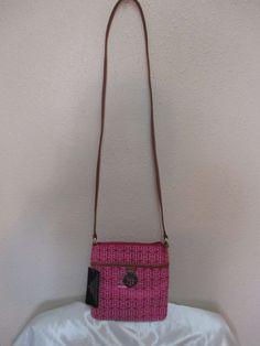 Tommy Hilfiger XBody Handbag 6921517 691 Pink Brown Gold Retail Price $65.00 #TommyHilfiger #MessengerCrossBody