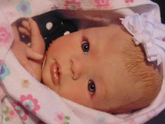 """Morgan 19"""" Approx 4 lbs artist Jenn Berrett! This is my reborn baby! """"Anna"""" she is very realistic go check out Jenn Berretts Pinterest if you are interested!"""