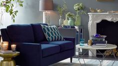 """10 Interior Design Trends for 2014 """" Saturated colors  Leave gray, beige and greige in the rearview mirror in favor of deeply-saturated hues like navy and plum. In fact, navy is considered a new neutral for its ability to blend with other colors and styles. If a darker shade on the wall seems too scary, start with a piece of furniture like a sofa or sectional as your focal point and work from there"""""""