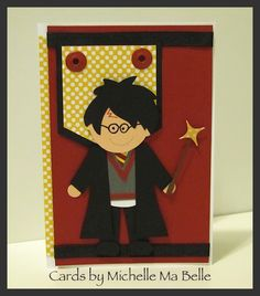 Harry Potter Birthday Card - all hand cut paper pieces  Scrapbook pages