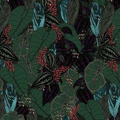 www.brief-story.com   instagram brief_story Pattern Fashion, Fashion Prints, Textile Design, Pattern Design, Plant Leaves, Textiles, Green, Instagram, Fabrics