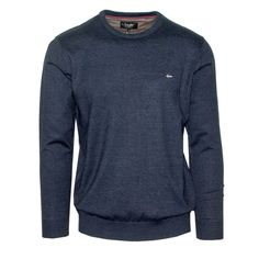 "Ανδρική Μπλούζα Πλεκτή ""Dakota"" Oxygen λαιμόκοψη Knitwear, Long Sleeve, Sleeves, Sweaters, Mens Tops, T Shirt, Collection, Fashion, Supreme T Shirt"