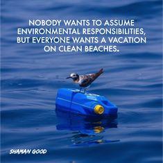 Nadie quiere asumir responsabilidades ambientales, pero todos quieren vacaciones en playas limpias.  #SHAMANGOOD #HOPEFORTOMORROW #PLOGGINGXTHEPLANET🌎 Clean Beach, Environment, Fish, Vacation, Pets, Water, Animals, Beaches, Gripe Water