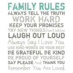 I pinned this Family Rules Wall Art in White from the All I Want for Christmas event at Joss and Main!