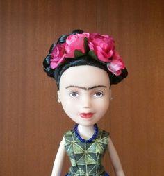 Frida Kahlo doll one of a kind repainted bratz doll by Kiwigirlz