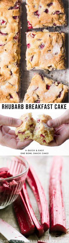 Rhubarb Breakfast Cake is a classic