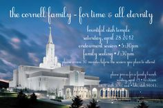 Temple Wedding or Family Sealing Invitation by WidgetPrints