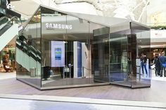 Starting May 29th, Samsung's PIN glass housings, like the one you see above, will begin to populate commercial centers in and around London, letting eager consumers gets hands-on with the ICS handset's nature-made design. Westfield's Shepherd's Bush and Old Spitalfields Market will be the first two UK locations for this temporary retail presence, with larger 7-by 7-meter versions, as well as a smattering of overseas appearances to follow. ... #Architecture #Buildings #Architect #Art #Design