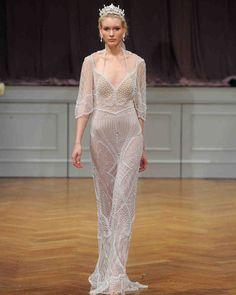 Alon Livné Fall 2017 Wedding Dress Collection   Martha Stewart Weddings – 3/4-sleeve A-line wedding dress