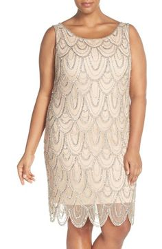 Pisarro Nights Beaded Sheath Dress (Plus Size) available at #Nordstrom