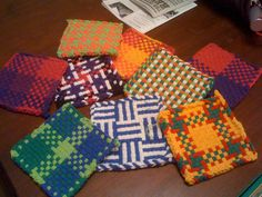 One of our returning guests handed me a present before she left. It was a handmade, loop and loom potholder; colorful, tightly woven, and c. Potholder Loom, Potholder Patterns, Quilt Patterns, Dishcloth, Pot Holder Crafts, Pot Holders, Types Of Weaving, Arts And Crafts, Diy Crafts
