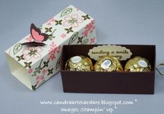 Ferrero Rocher Treat Box with ribbon pull | Arty Paper Crafters