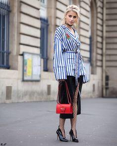 Caroline Daur @carodaur after @isseymiyake__ FW17 Paris Fashion Week  by #chrissmart  www.csmartfx.com  #PFW #PFW17 #AW17 #FW17 #StreetStyle #Fashion #FashionWeek #paris #parisfashionweek #moda #mode #ootd #fashionlook #womensfashion #beauty #street #womenswear #chic #style #carolinedaur