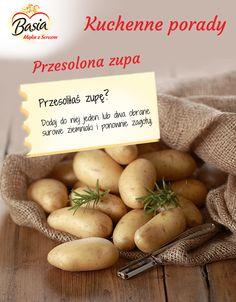 Przesolona zupa. Kitchen Hacks, Cool Kitchens, Cantaloupe, Life Hacks, Good Food, Food And Drink, Banana, Good Things, Fruit