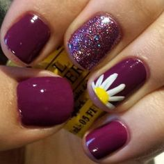 cool Spring nail art! Spring is on its way. Loving the daisy and flower nail designs.... - Pepino Nail Art Design