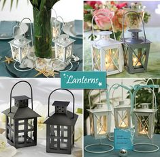 For the steps going into the reception. Mini lanterns as beach wedding centerpieces, decorations and favors. Beach Wedding Centerpieces, Candle Wedding Favors, Candle Favors, Wedding Lanterns, Wedding Reception Decorations, Nautical Wedding, Diy Wedding, Dream Wedding, Wedding Ideas
