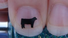 Show Steer Nail Art Decals Set of 20 Vinyl Stickers by TrinityNails #stockshowlife