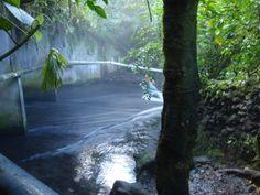 Free secret hot spring near Arenal Volcano Costa Rica
