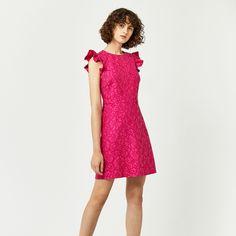 Womens Frill Sleeve Bonded Lace Party Dress Warehouse 9kxIXu4Yiq