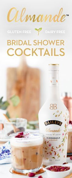 Baileys Almande is not only a great gift, but the perfect liqueur for any cocktail. Grab your bottle today to make bridal shower season a breeze, and be the host of honor leaving a trail of Iced Chai Rose Lattes for the bridal party. Not only are they beautiful and delicious, they're also dairy free, gluten free, and vegan. To start, steep a Chai Tea Bag in ½ cup of boiling water. Next, add 3 oz Baileys Almande, 1 tbsp Honey, and put over ½ cup of Ice. Garnish with rose dust and dried…