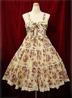 Baby the Stars Shine Bright / Jumper Skirt / Victorian Sugar Bouquet Print JSK