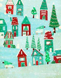 winter village by Stephanie Fizer Coleman