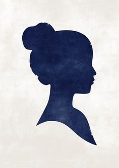 Gorgeous, girly profile rendered in delicious cobalt.