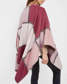 SHOP FOR HER: Keep her stylishly snug this christmas with Ted's cosy MONDI  cape.