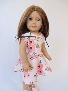 Make a knit dress for your 18 inch doll with this easy pattern hack of the April Moon sewing pattern by Oh Sew Kat! Step it Up Series: Easy Pattern Hack: April Moon PJ's makes a Cute, Knit Dress – Oh Sew Kat!