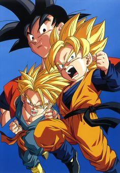 Goku, Goten, and Trunks
