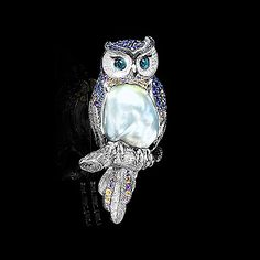 Брошь Owl - купить в Mousson Atelier LunaRip~ Wow Pearl or Abalone Sooo Pretty!!!!