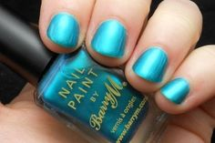 Barry M- Teal, swatched only, $6 plus actual shipping
