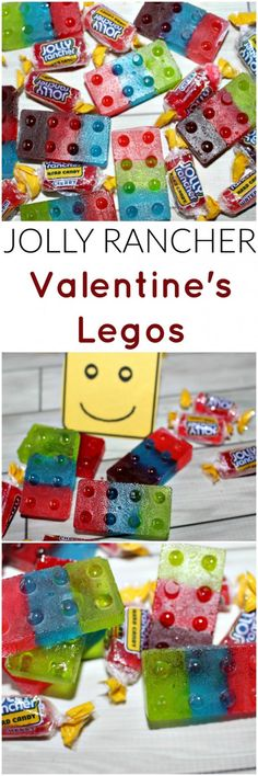 Jolly Rancher Legos Valentine's Day Card Printable by Princess Pinky Girl, 20 DIY Valentine's Day Card Ideas via A Blissful Nest