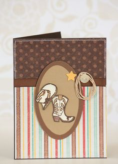 Country Cowboy Card Cowboy Boots and Hat by BeautyfromashesUSA, $5.00