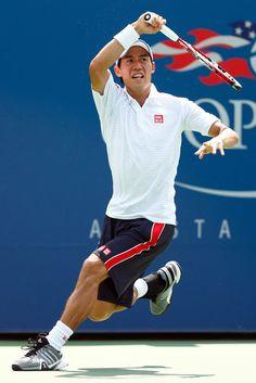 Kei Nishikori Photos: US Open: Day 2