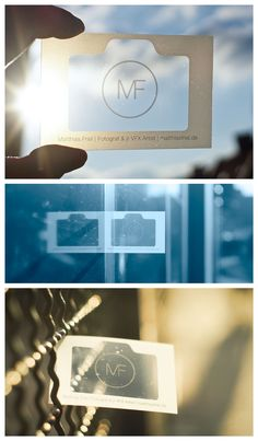 Great Business Card idea for a photographer