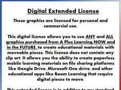 This extended license allows you to use ALL of my clip art sets in my store now and in the future in your digital educational materials with moveable piece. School Resources, Teaching Resources, One Drive, Mindfulness Activities, Positive Behavior, Mobile Learning, Primary Classroom, New School Year, Classroom Management