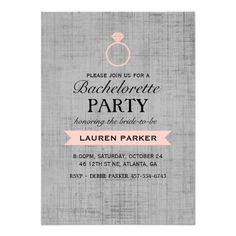 ShoppingCoral Vintage Poster Ring Bachelorette InvitationThis site is will advise you where to buy
